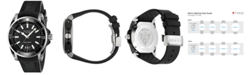 Gucci Men's Swiss Diver Black Rubber Strap Watch 45mm YA136204