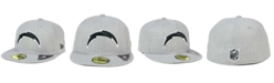 New Era Los Angeles Chargers Heather Black White 59FIFTY Fitted Cap