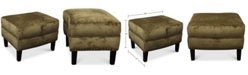 Furniture Calvin Fabric Ottoman