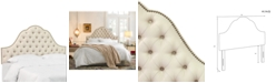 Skyline Jacqueline King Nail Button Tufted Arch Headboard, Quick Ship