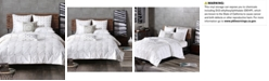 INK+IVY Masie Cotton Percale Embroidered Ruched Full/Queen Duvet Mini Set