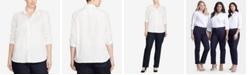 Lauren Ralph Lauren Plus Size Long Sleeve Non-Iron Shirt