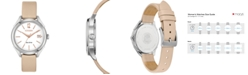 Citizen Drive From Citizen Eco-Drive Women's Beige Leather Strap Watch 34mm