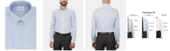Calvin Klein Calvin Klein Men's STEEL Slim-Fit Non-Iron Performance Stretch Blue Check Dress Shirt