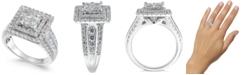Macy's Diamond Princess Halo Ring (2 ct. t.w.) in 14k White Gold