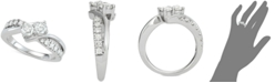 Two Souls, One Love® Diamond Two-Stone Diamond Engagement Ring (1 ct. t.w.) in 14k White Gold