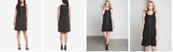 Karen Kane Studded Faux-Suede A-Line Dress
