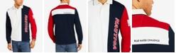 Nautica Men's Big & Tall Colorblocked Long-Sleeve Polo, Created for Macy's