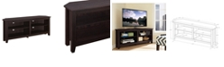 "Walker Edison 58"" Wood Corner Media TV Stand Storage Console"