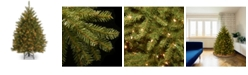 National Tree Company National Tree 4 .5' Dunhill Fir Hinged Tree with 450 Clear Lights