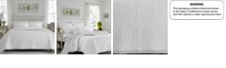 Laura Ashley Full/Queen Heirloom Crochet White Quilt Set