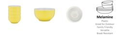 Q Squared Bistro Yellow Melamine 4-Pc. Cereal Bowl Set