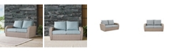 Crosley St Augustine Outdoor Wicker Loveseat With Universal Cushion