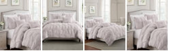 Cathay Home Inc. Floral Pintuck Full/Queen Comforter Set