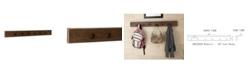 "Alaterre Furniture Modesto  48"" Reclaimed Wood Wall Coat Hooks"