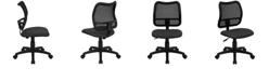 Flash Furniture Mid-Back Gray Mesh Swivel Task Chair