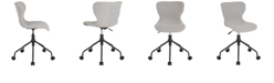 Flash Furniture Somerset Home And Office Upholstered Task Chair In Light Gray Fabric