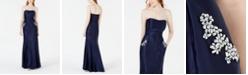 Blondie Nites Juniors' Strapless Pocket-Detail Gown