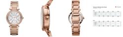 Michael Kors Women's Chronograph Mini Parker Rose Gold-Tone Stainless Steel Bracelet Watch 33mm MK5616