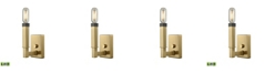ELK Lighting Mandeville 1 Light Wall Sconce in Satin Brass with Oil Rubbed Bronze Accents