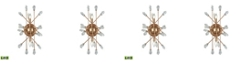 ELK Lighting Serendipity 2 Light Sconce in Matte Gold with Clear Bubble Glass