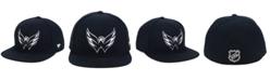 Authentic NHL Headwear NHL Authentic Headwear Washington Capitals Black DUB Fitted Cap