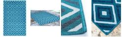 "Liora Manne' Riviera 7641 Nested Diamond 7'10"" x 9'10"" Indoor/Outdoor Area Rug"