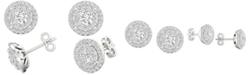 Macy's Diamond Double Halo Stud Earrings (1 ct. t.w.) in 14k White Gold