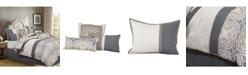 Nanshing Camila 7-Piece Comforter Set, Gray/Ivory, California King