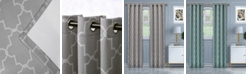 """Superior Soft Quality Woven, Imperial Trellis Blackout Thermal Grommet Curtain Panel Pair, Set of 2, 52"""" x 96"""""""