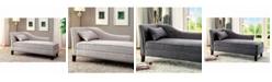Benzara Contemporary Linen-Like Fabric Chaise