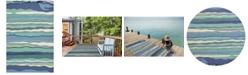 Kas Harbor Lagoon 4216 Ocean Indoor/Outdoor Area Rug