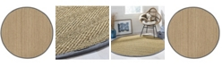 Safavieh Natural Fiber Natural and Dark Gray 6' x 6' Sisal Weave Round Area Rug