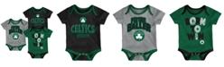 Outerstuff Boston Celtics 3 Piece Bodysuit Set, Infants (0-9 Months)