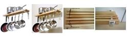 """Cooks Standard Wall Mounted Wooden Pot Rack, 36"""" X 8"""""""