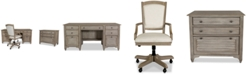 Furniture York Home Office, 3-Pc. Furniture Set (Credenza Desk, Upholstered Desk Chair & Lateral File Cabinet)