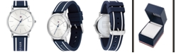 Tommy Hilfiger Women's Navy Silicone Strap Watch 35mm Created for Macy's