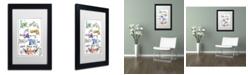 "Trademark Global Jennifer Nilsson Words of Love - Love in Action Matted Framed Art - 11"" x 14"" x 0.5"""