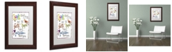 "Trademark Global Jennifer Nilsson Words of Love - Never Fails Matted Framed Art - 11"" x 14"" x 0.5"""