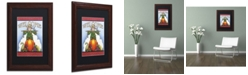 "Trademark Global Jennifer Nilsson Scarecrow Welcome Matted Framed Art - 16"" x 20"" x 0.5"""
