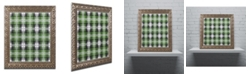 """Trademark Global Jennifer Nilsson Green Gray Check 2 Ornate Framed Art - 11"""" x 14"""" x 0.5"""""""
