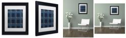 "Trademark Global Jennifer Nilsson Blue Gold Matted Framed Art - 14"" x 19"" x 2"""
