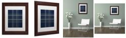 "Trademark Global Jennifer Nilsson Dashed Line Dark Blue Matted Framed Art - 11"" x 14"" x 0.5"""