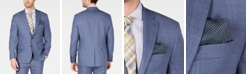 Lauren Ralph Lauren Men's Classic-Fit UltraFlex Stretch Light Blue Glen Plaid Suit Jacket