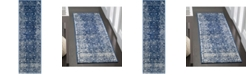 "Safavieh Evoke Navy and Ivory 2'2"" x 7' Runner Area Rug"