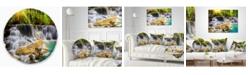 "Design Art Designart 'Kanchanaburi Province Waterfall' Photography Throw Pillow - 20"" Round"