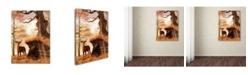 "Trademark Global Daniel Eskridge 'Autumn Buck' Canvas Art - 24"" x 18"" x 2"""