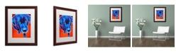 "Trademark Global DawgArt 'Lab Olive' Matted Framed Art - 16"" x 20"" x 0.5"""