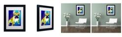 """Trademark Global DawgArt 'Tugboat' Matted Framed Art - 14"""" x 11"""" x 0.5"""""""