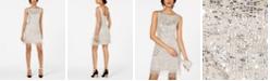Adrianna Papell Beaded Fringe Short Dress